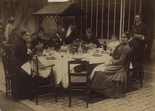 Aan tafel ten huize Otlet in Chaussée de Charleroi(1885-1890)