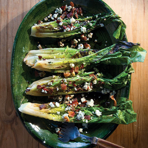 Grilled Romaine Salad with Blue Cheese and Bacon