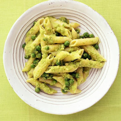 Pasta with Almond-Pea Pesto
