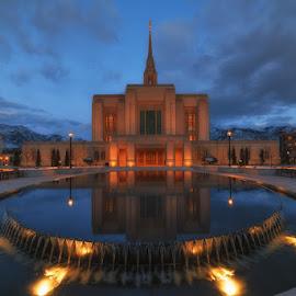 Temple of Fire by Ryan Moyer - Buildings & Architecture Places of Worship ( mormon, ogden temple, utah, ogden, buildings, lds )