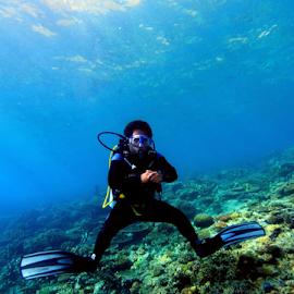 by Fentee  Affandy - Landscapes Underwater ( diver, underwater, landscapes, ocean view, diving )
