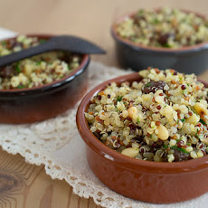 Quinoa Salad with Toasted Pine Nuts, Raisins and Lime