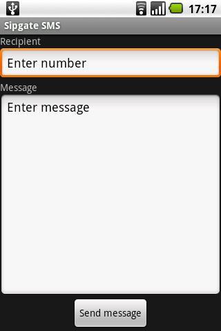 SMS via Sipgate