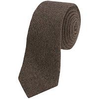 Altea Textured Solid Tie - Cashmere (For Men)