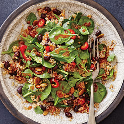 "Spicy Bean and Quinoa Salad with ""Mole"" Vinaigrette"
