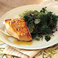 Sauteed Black Cod with Shallot-Lemon Vinaigrette and Fresh Herb Salad
