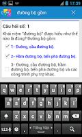 Screenshot of Ôn thi giấy phép lái xe