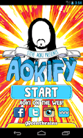 Screenshot of Steve Aoki's Aokify