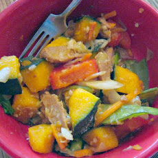 Seitan and Kabocha Veggie Stir Fry