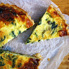 Spring Onion, Mushroom And Nettle Quiche