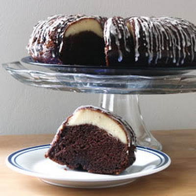 Ribboned Fudge Cake