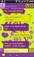 Screenshot of GO SMS Pro Purple&Yellow Theme