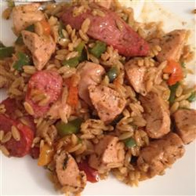 Chicken and Sausage Orzo Pasta