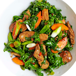 Pork, Kale And Spring Onion Stir-fry