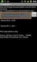 Screenshot of FFmpeg for Android Beta