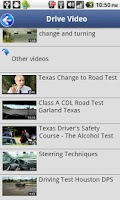 Screenshot of Driver License Test Texas
