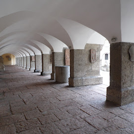 by Breedeen Nulty - Buildings & Architecture Other Exteriors ( salzburg, plaques, arches, vaulted ceiling, stone, paving )