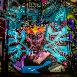 Face by Michael Payne - City,  Street & Park  Street Scenes ( graffiti, bansky tunnel, leake street,  )