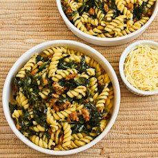 Pasta with Hot Italian Sausage, Kale, Garlic, and Red Pepper Flakes