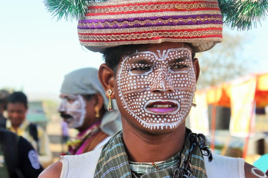 Portrait of man by Thakkar Mj - People Portraits of Men ( street, india, tribal, man, portrait,  )