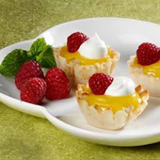 Lemon Curd Tartlets With Fresh Raspberries