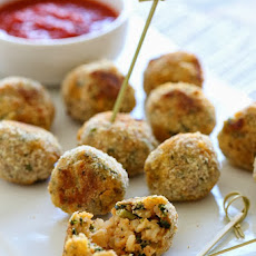 Baked Mini Spinach and Sausage Arancini