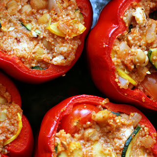Couscous and Feta-Stuffed Peppers