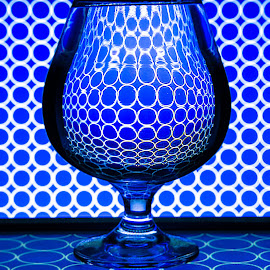 Glass and Blue by Jun Sigue - Artistic Objects Glass ( circles, blue, art, artistic, glass, round, artist, artistic objects, photography )