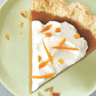 Citrus Pumpkin Pie with Grand Marnier Cream