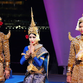 Thailand Costumes by Koh Chip Whye - People Musicians & Entertainers (  )