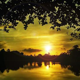 Tasik Biru Sunset by Aric Steven - Novices Only Landscapes