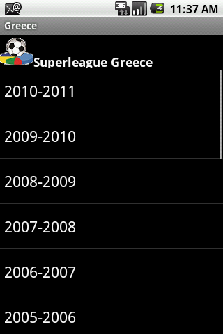 English Greece Football Histor
