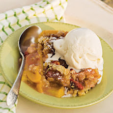 Peach-Raspberry Cobbler