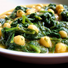 Chickpea Soup With Spinach (Potje De Garbanzo Con Acelga)