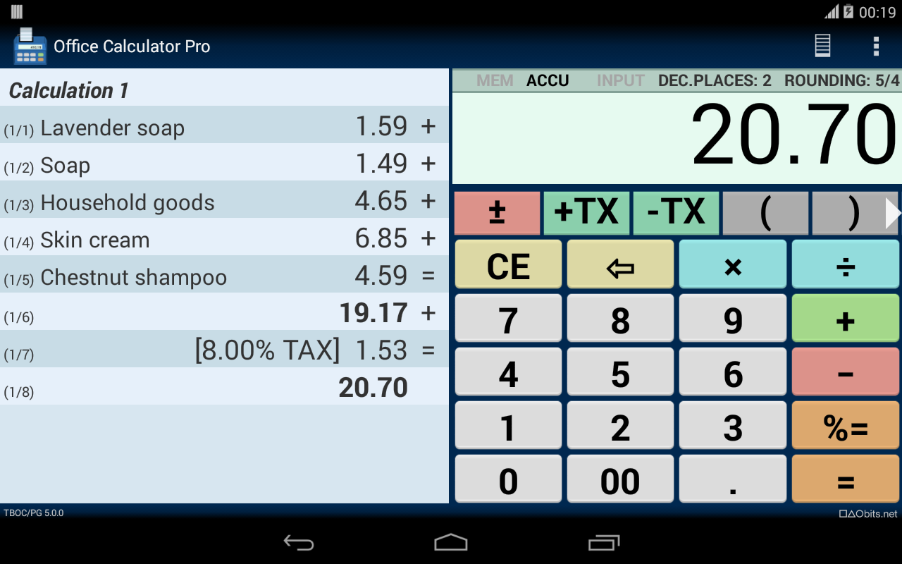 Office Calculator Pro Screenshot 11