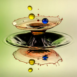 Water drop splash 1 by Duy Tang - Abstract Water Drops & Splashes ( water, colour, reflection, liquid, splash, drop )