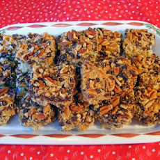 Chocolate Raisin Nut Crunch Bars