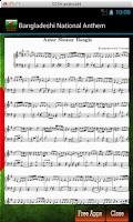 Screenshot of Bangladeshi National Anthem