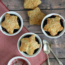 Cherry Cobbler With Brown Sugar Biscuit Crust