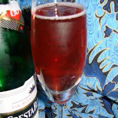 Cranberry Kir Champagne Cocktail