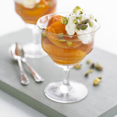 Poached Apricots With Rosewater