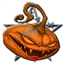 Halloween Evil Pumpkin Clock icon