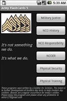 Screenshot of Army FlashCards 5