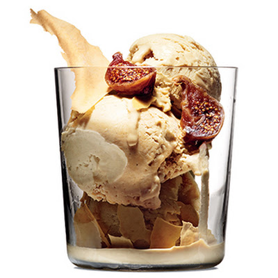 Coffee-Cardamom Ice Cream with Figs