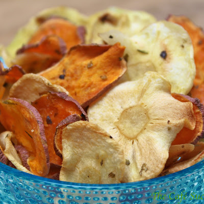 Sweet Potato & Parsnip Chips – Microwave Style