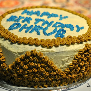 Carrot Cake with Cream Cheese Frosting - Birthday Cake for D