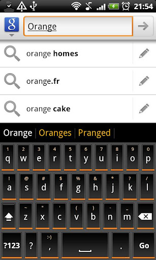 Orange Slate KB Theme - Donate
