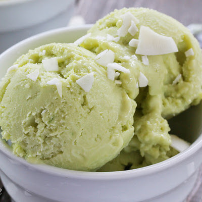 Coconut Avocado Frozen Yogurt