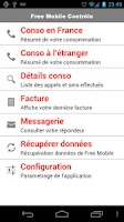 Screenshot of Free Mobile Contrôle