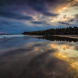 Curves by Budi Astawa - Landscapes Beaches ( bali, jembrana, pengambengan, negara )